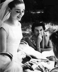On the set of Funny Face (1957)
