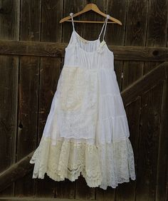 boho gypsy barn prairie  lace lace lace summer shabby bride sundress white ecru rustic wedding roses mountain forest  party dress