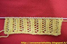 Il mio Mondo: un bellissimo punto rete da lavorare a maglia faci...