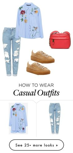 """Casual"" by irishkina on Polyvore featuring Topshop, Puma and Moschino"
