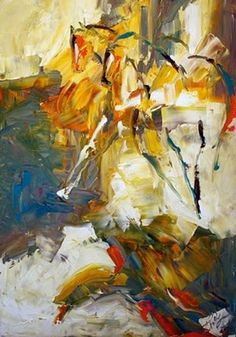 Artists Of Texas Contemporary Paintings and Art - Two in the Sun, Abstract Horse Painting by Texas Artist Laurie Pace