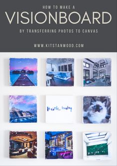 How to Transfer Photographs to Canvas for a Vision Board – Kit Stanwood Canvas Photo Transfer, Photo Canvas, Canvas Photos, Home Yoga Room, Magazine Pictures, Sunset Colors, Fun Workouts, Workout Routines, Projects To Try
