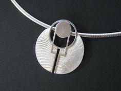 Pendentif seul = 169€ Collier snake argent + pendentif= 229€  #Designer #Sand #Pattern #Print #Jewelry #Silver #Egypt #Dune #Art