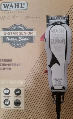 Wahl Vintage 5 Star Senior Clipper - Respect the past. Look to the future. That's the inspiration for the release of the Vintage Edition 5-Star Senior from Wahl Professional, a grooming products leader in the salon and barber industry since 1919. The 5-Star Senior is a premium zero-overlap clipper with a surgical blade and has a V9000 motor for easier blending, precise cutting and faster cut time overall. #ABBS #Atlanta #barber #supplies #Wahl #5star #five #star #senior #vintage #clipper