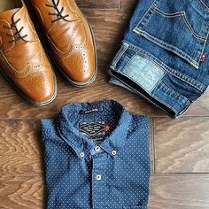 Outfit of the day goes to @fashion.kingdom  love the wing tip dress shoes! They suit this outfit perfectly ✔️ To get featured you must:  1. Use #votrends  2. Tag us in the picture 3. Follow us @votrends  That's it   menfashion #menstyle #menwear #menswear #men #style #trend #clothing #springwear #springclothes #spring #outfit #outfits #outfitgrid #denim #colors #boots #bluepants #blogger #fashion #fashionstyle #fashionmen #dapper #amsco