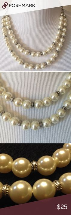 Faux Double Strand Pearls Double strand faux pearls Jewelry Necklaces