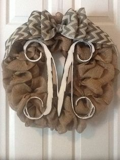 Im gonna have one of these on my front door one day! MONOGRAM WREATHS by MLRDesignsbySharonP on Etsy