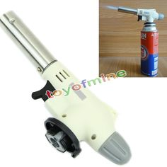 HIgh quality Gas Torch Flame Gun Welding Solder Blow Jet Burner Burning Butane Iron Lighter Auto Ignition Heating BBQ Cooking