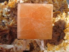Selenite Square Red (SSQ101) by Valugems on Etsy