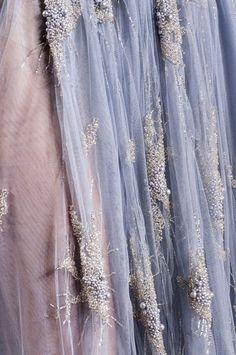 pale mauve and lavender Oscar Carvallo spring 2013 couture details