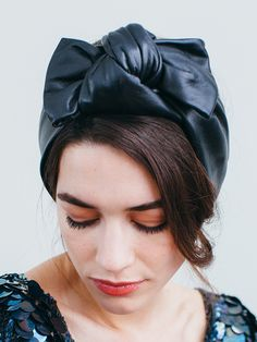 Rosette Silk Headband Jennifer Behr