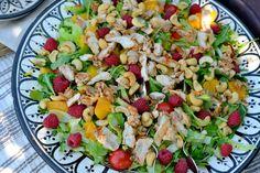 Sommersalat med kylling og appelsin