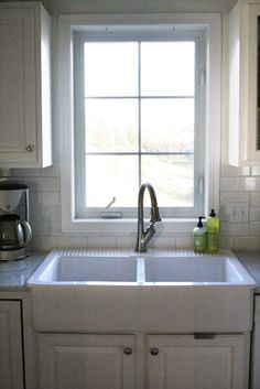 Ikea Apron Sink, Love The Dual Apron With A Faucet That Has The Hose Pull