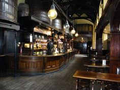 """My all-time favourite Pub ever. The vats above the bar each used to contain wine but were drained in the Blitz as a testament to English wartime priorities. """"for God's sake man, the Germans are coming, save the bloody wine"""""""