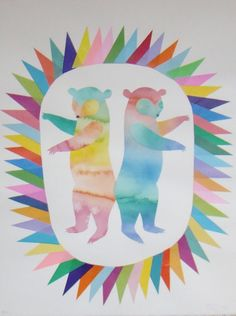 ★ Dancing bears by Beci Orpin, a favourite artist of mine Soul Art, Cute Bears, Work Inspiration, Diy Painting, Pretty Pictures, Fun Projects, Illustrations Posters, Amazing Art, Illustrators