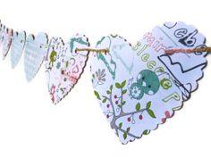 Valentine's Day Bunting Girl's Bedroom Banner Cut by LoveStar1, $10.00