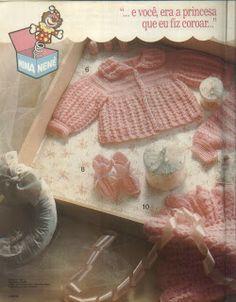 Tricotando para o Neném: Enxoval de crochê