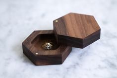SALE  Geometric Engagement Ring Box Hexagon Ring by theDuoStudio