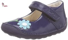 Clarks  Little Jam, Sneakers Basses fille - Bleu - Blau (Navy Patent), 18 - Chaussures clarks kids (*Partner-Link)