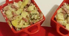 Tartiflette allégée WW,une savoureuse tartiflette légère à base de pommes de terre, de poireaux, de jambon et du cancoillotte, un plat complet idéal à faire pour un repas d'hiver.