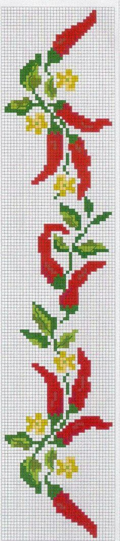 Food peppers cross stitch.