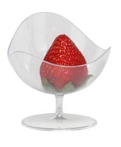 Restaurantware.com - Ball Chair Clear, 100 count box, $49.99 (http://www.restaurantware.com/ball-chair-clear-100-count-box/)