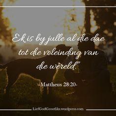Lief God Grootliks Lief God Grootliks SOAP - Matthew 28:20Jesus se Groot Opdrag gegee aan die dissipels en vandaar aan alle gelowiges in Hom is om dissipels van almal te maak wat ons teëkom. Gelowiges is beveel om te gaan en dissipels te maak. Gaan ... nie om te wag totdat die verlore na ons toe kom nie. Gaan ... nie om te oordeel of hulle dit waardig is of nie. Gaan ... nie om hulle te laat om ons bereidwilligheid te verdien nie. Maak dissipels ... nie net meer lidmate nie. Maak dissipels… Bible Study Notebook, Goeie More, Matthew 28, Afrikaans, Dear God, First Love, Prayers, Van, Cards Against Humanity