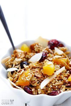 Quinoa Breakfast Bars with Blueberries #glutenfree