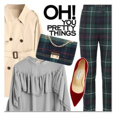 Untitled #3586 by mada-malureanu on Polyvore featuring polyvore fashion style Burberry Jimmy Choo clothing