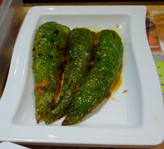 #HongKong #DimSum - Peppers stuffed w/ pork and grilled/fried