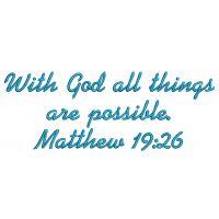 Matthew 19:26 from Designs by Juju