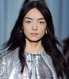 Center parts and natural waves a la Givenchy are hot for spring!