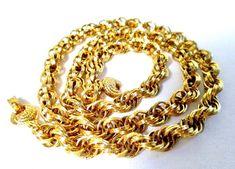 """Monet Chain Necklace Gold Tone 24"""" #Monet #Chain"""
