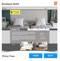 Boutique Hotel Website Template