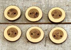 Botones  rama  hecho a mano madera botones de por PebblesAndWoods