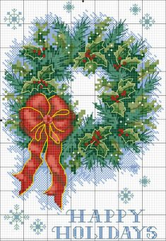 Embroidery and free cross stitch patterns: Large collection schemes, cross stitch Christmas theme