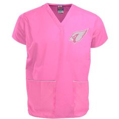 NFL Arizona Cardinals Pink Breast Cancer Awareness Scrub Top