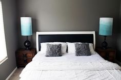 walls painted (Martha Stewart's Mushroom), a match is Benjamin Moore Squirrel Tail 1476 and Behr Squirrel 790D-5