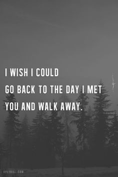 And walk away