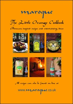 Maroque's Little Orange Cook Book •    Learn about tagines, how to season and use them. •    A culinary adventure of Moroccan recipes, menus and table settings along with wine notes to tempt you •    Gain confidence, try new ingredients and stun your dinner guests!
