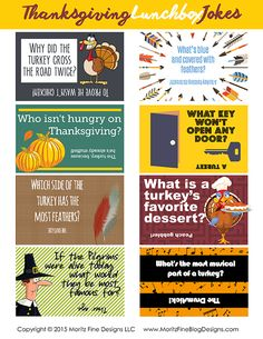 Your kids will LOL with these funny Thanksgiving lunch box jokes for kids! These free printables are easy to print, cut apart and then add to your kid's lunches. Thanksgiving Lunch, Free Thanksgiving Printables, Thanksgiving Crafts, Free Printables, Lunch Box Notes, Holiday Fun, Holiday Parties, Holiday Ideas, Christmas Holidays