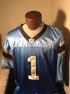 EUC+ Sz 54 Cam Newton  1 Carolina Panthers Jersey Reebok Authentic Blue   Reebok  CarolinaPanthers 981a8f04a