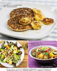 Auch Linsensalat und Buchweizen-Pfannkuchen von Billa bezaubern durch tolle Farben und Aromen.