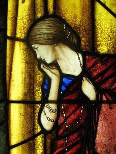Custom Made Arthur Rackham Helena Stained Glass