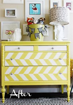 After - Snazzy Yellow Dresser
