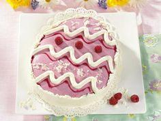 Raspberry Easter Egg Cake