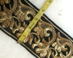 Items similar to Gold Embroidered trim, saree border Trims, Indian Trims and laces dress decor, dress border trimmings by the yard. Ribbon trim on Etsy Saree Border, Jewelry Design, Unique Jewelry, Fringe Trim, Scarf Styles, Decorative Pillows, Craft Projects, Trending Outfits, Diy Crafts