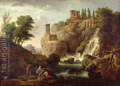 The Falls of Tivoli by Claude-joseph Vernet