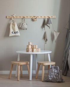 How lovely is this kid's play corner by 👈🏻 Only few of the Ooh Noo Alphabet blocks remaining in our sale 💕 . Kids Play Corner, Scandinavian Kids Rooms, Diy Kids Furniture, Playroom Design, Kids Decor, Girl Room, Kids Bedroom, Boho Chic, Alphabet Blocks