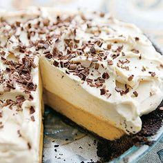This Double-Decker Pumpkin-Caramel Pie is sure to be a crowd pleaser!